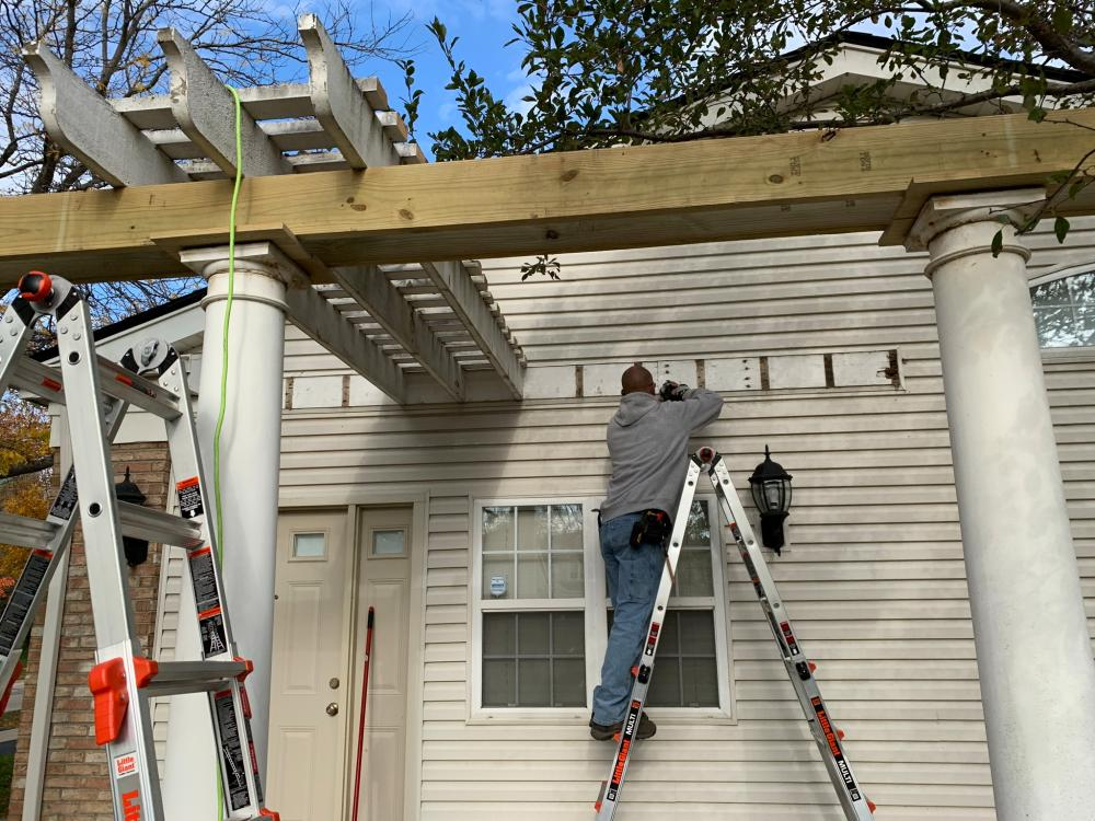 Pergola Project - During Pictures