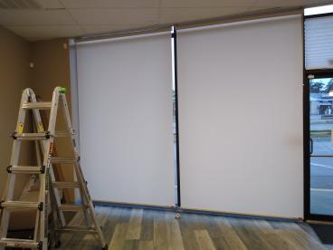 Commercial Blinds Installed