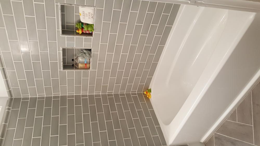 Children's Bathroom with Tile Surround