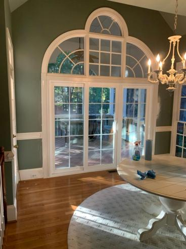 Window replacement with large sliding door in the Peninsula