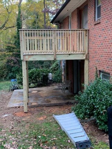 South Magnolia Mooresville Deck replacement - complete in 1.5 Days!!