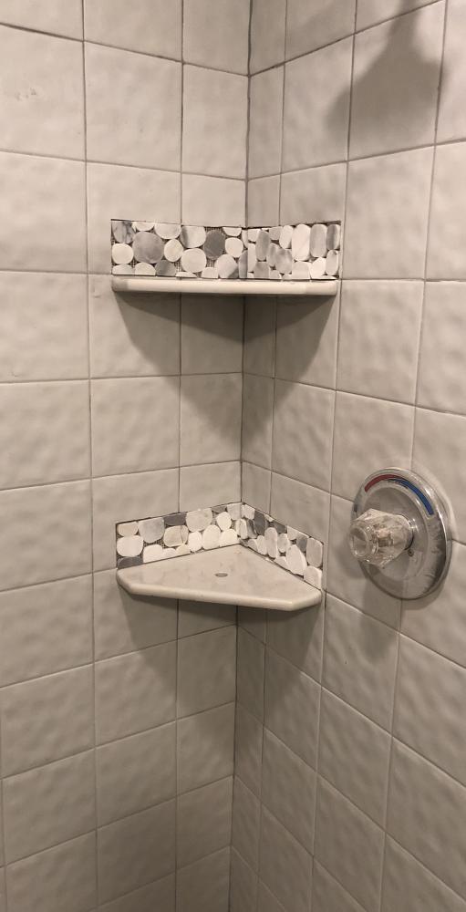 Corner Soap Dish Installation
