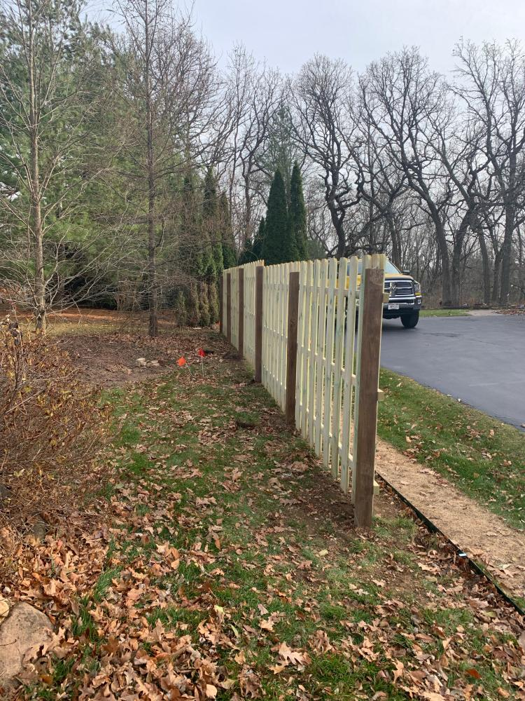 Fence Install in Delafield Wisconsin