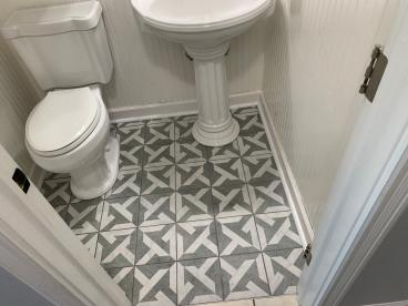Bathroom Tile Project in Wales Wisconsin