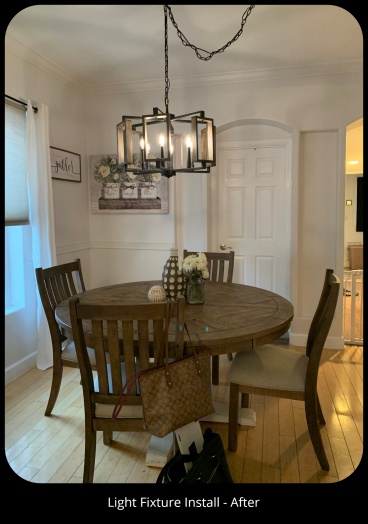 Dining Room Light Fixture - After