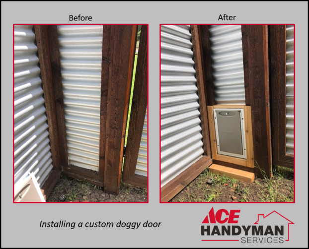 Carpentry Exterior - Custom Doggy Door