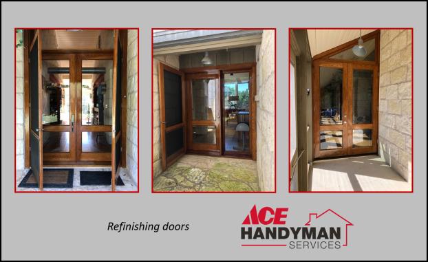 Doors - Exterior Doors Refinished