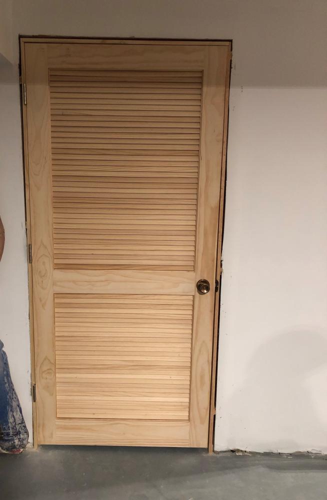 New Louvered Door