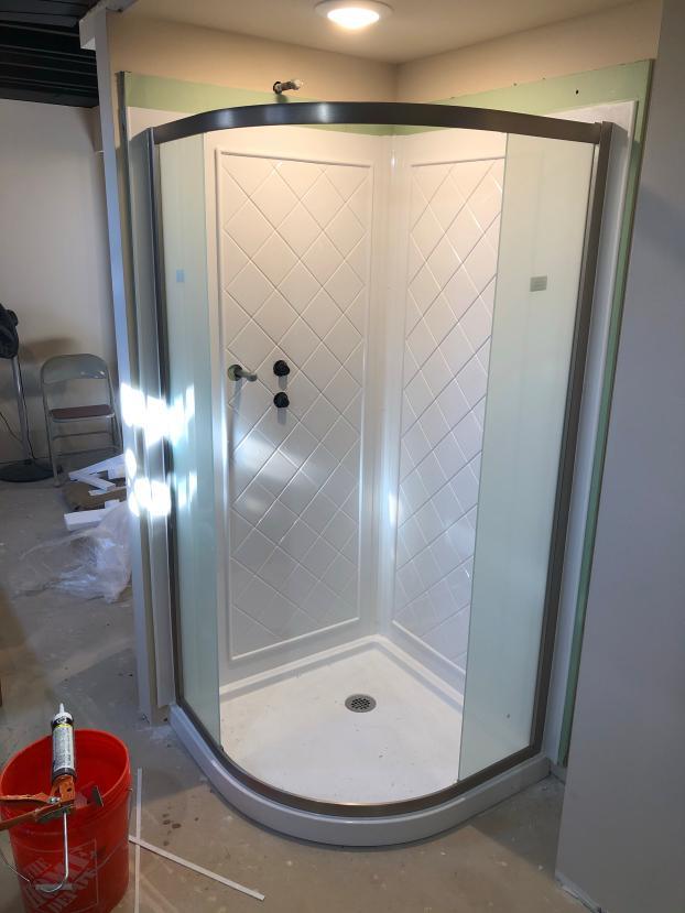 New Shower Surround & Curved Door