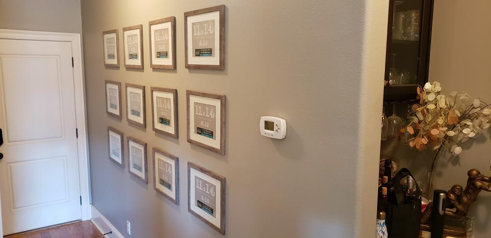 Hanging Photo Wall Gallery in Tallahassee