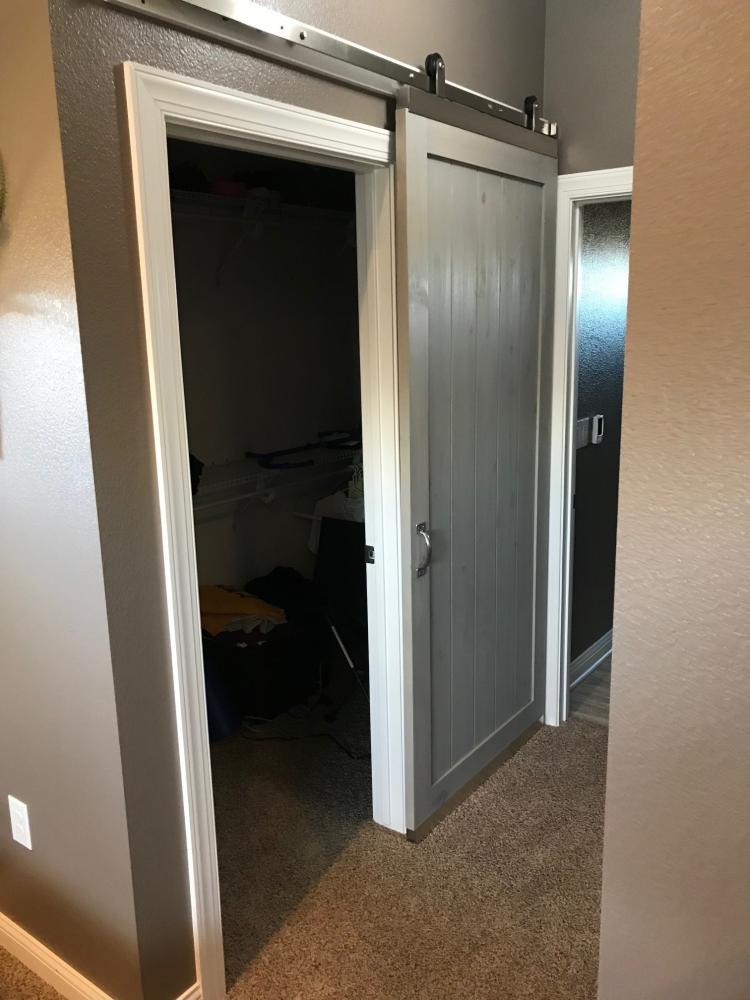 Barn Door Install 1
