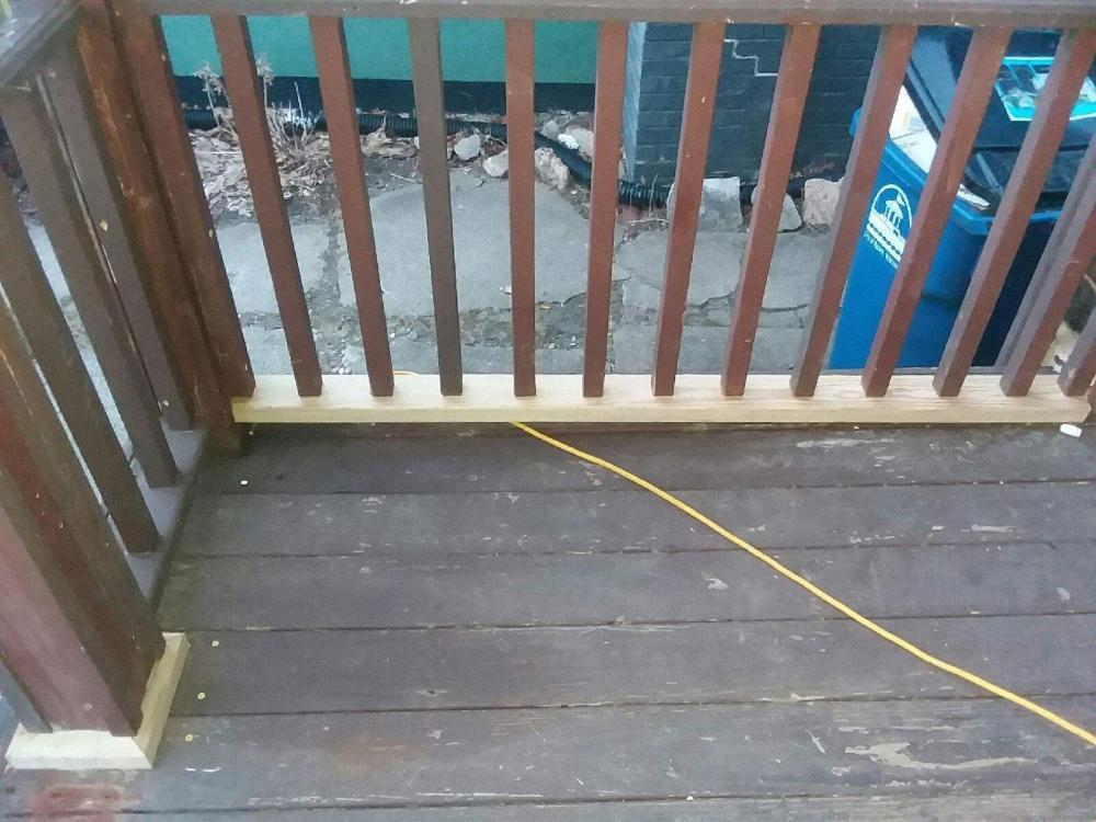 Deck Railing Repair 1a