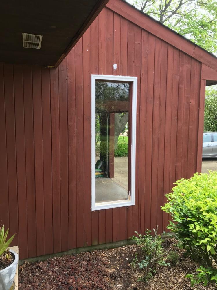 New Garage Door Window West Side