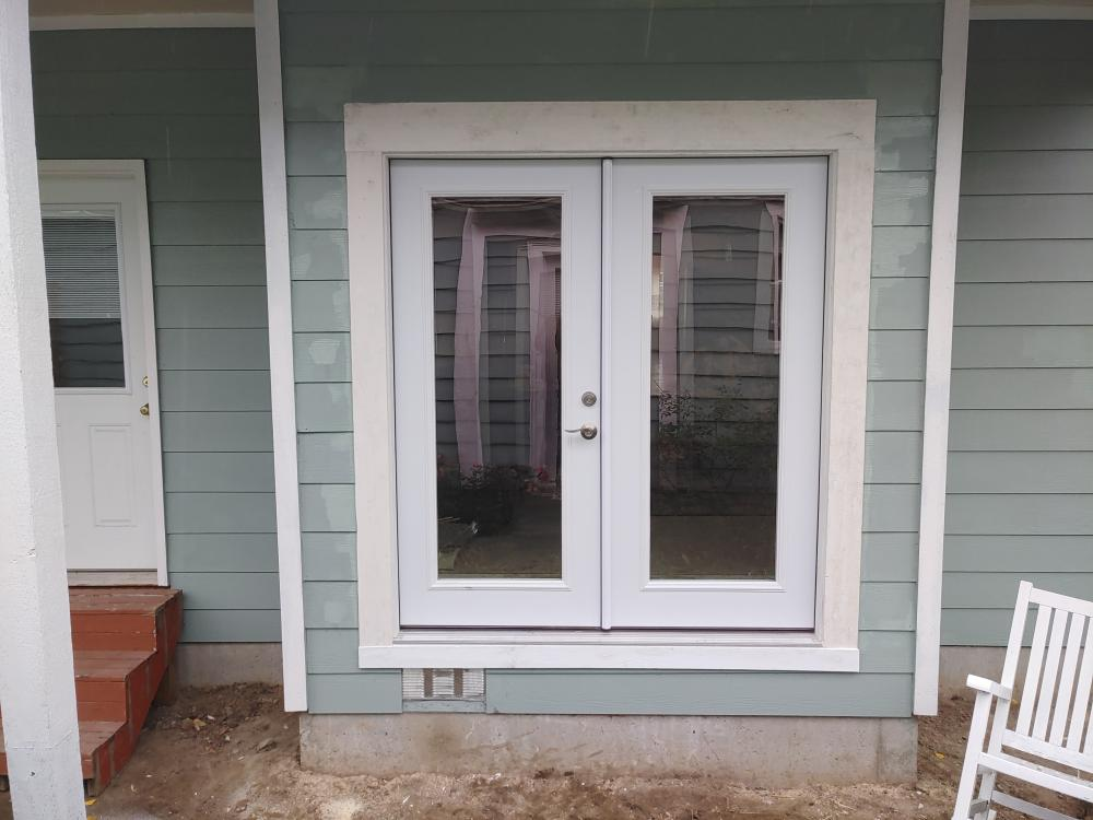 French door install, Snohomish