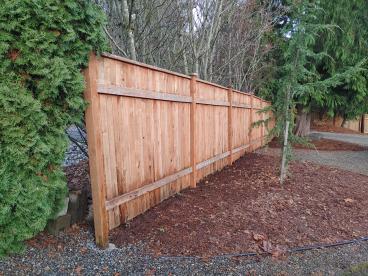 Fence staining, Everett
