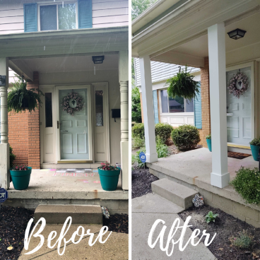 Installed New Front Porch Columns in Columbus