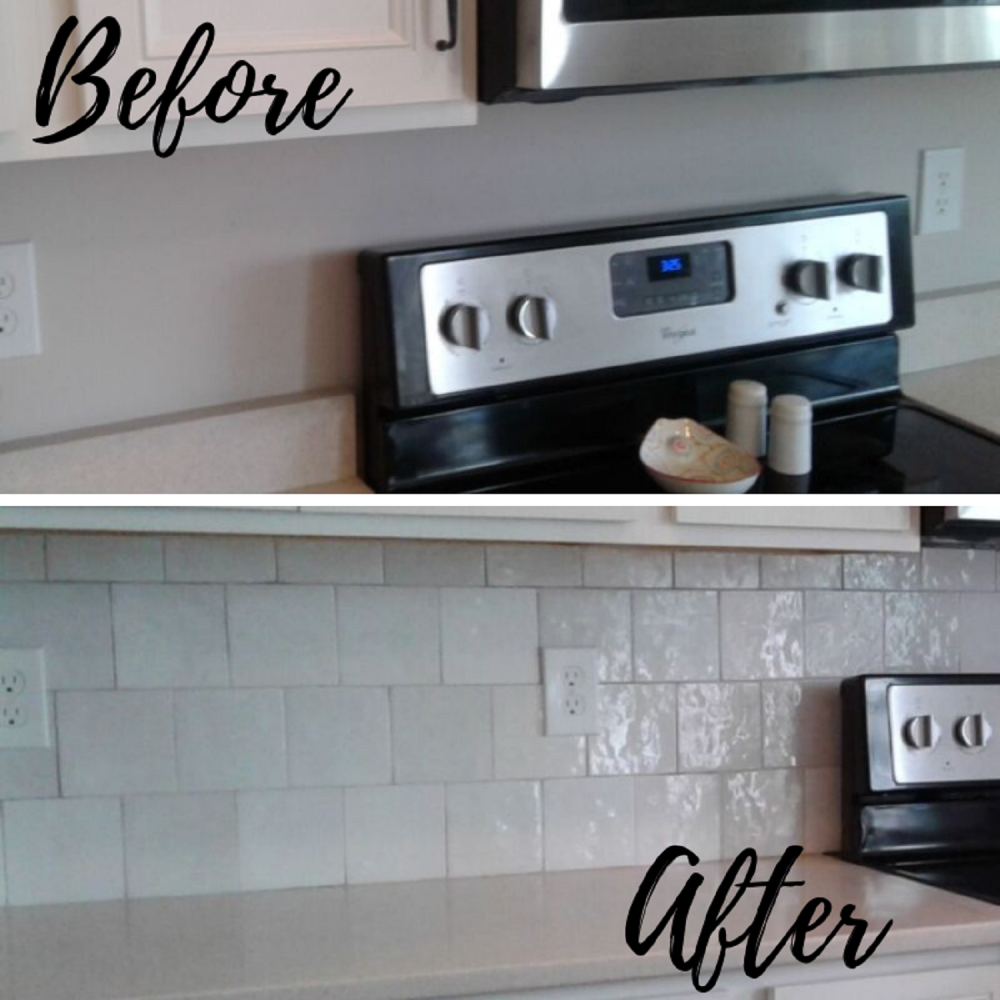 Kitchen Back Splash Installation