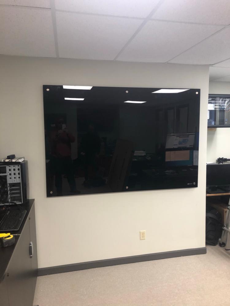 Installed a Glass Wipe Board