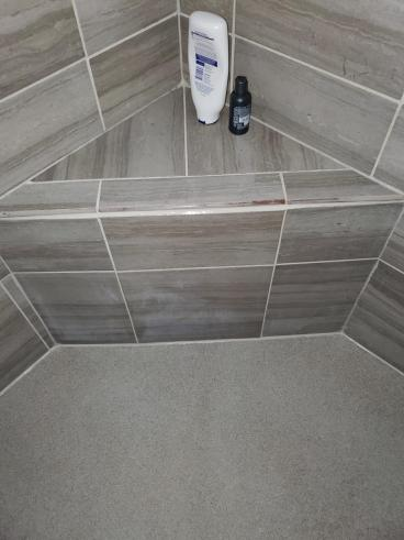 Recaulked Shower