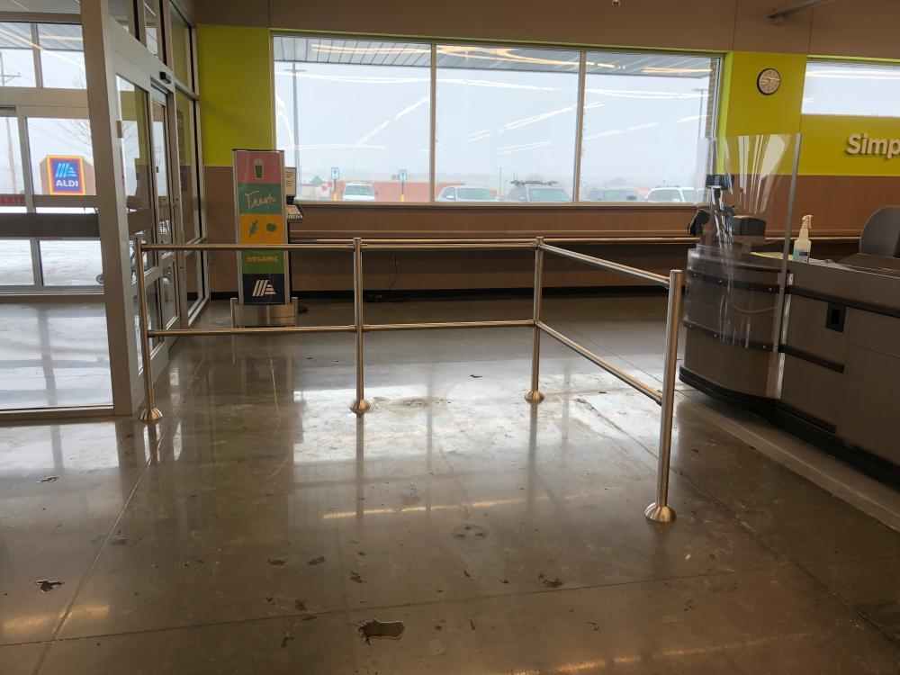 New Hand Rail at Aldi's Grocery Store