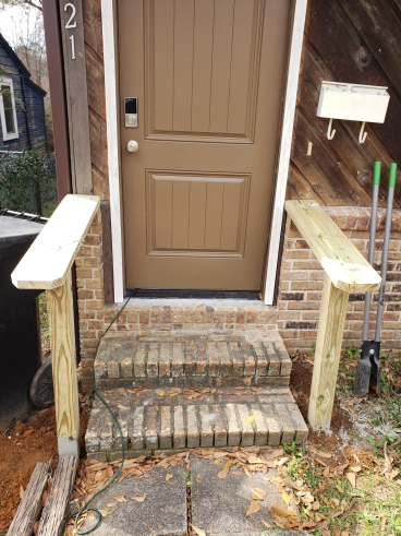 Rail Installation for Steps in Tallahassee