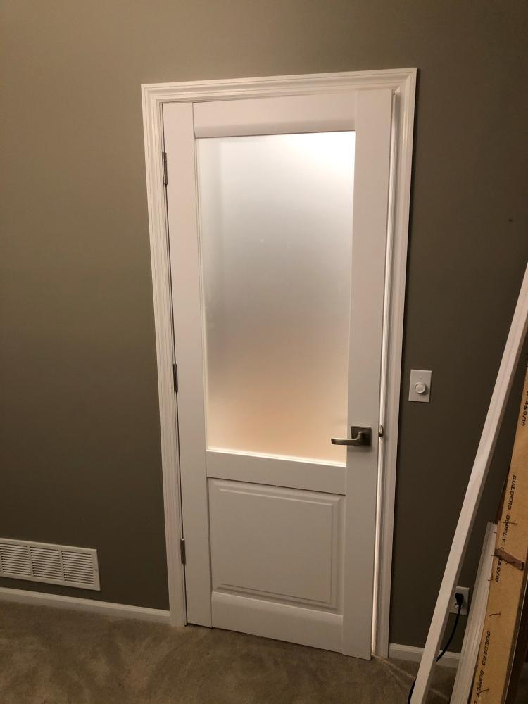 Interior door installed on rough opening!