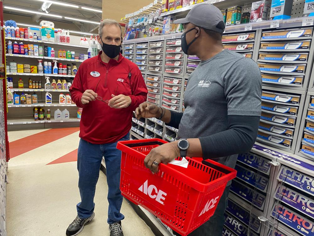 Craftsman Purchasing Materials at Ace Hardware in Tallahassee