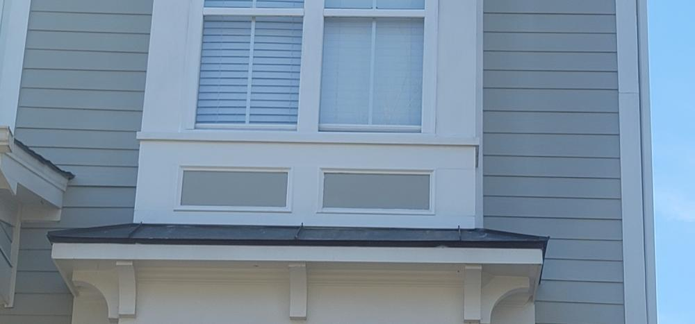 Exterior trim repair to home after