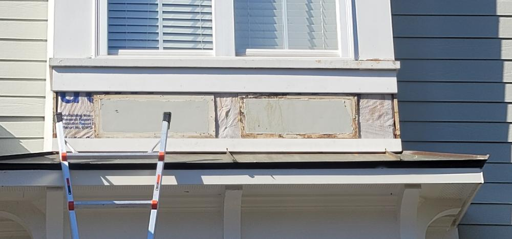 Exterior trim repair to home before