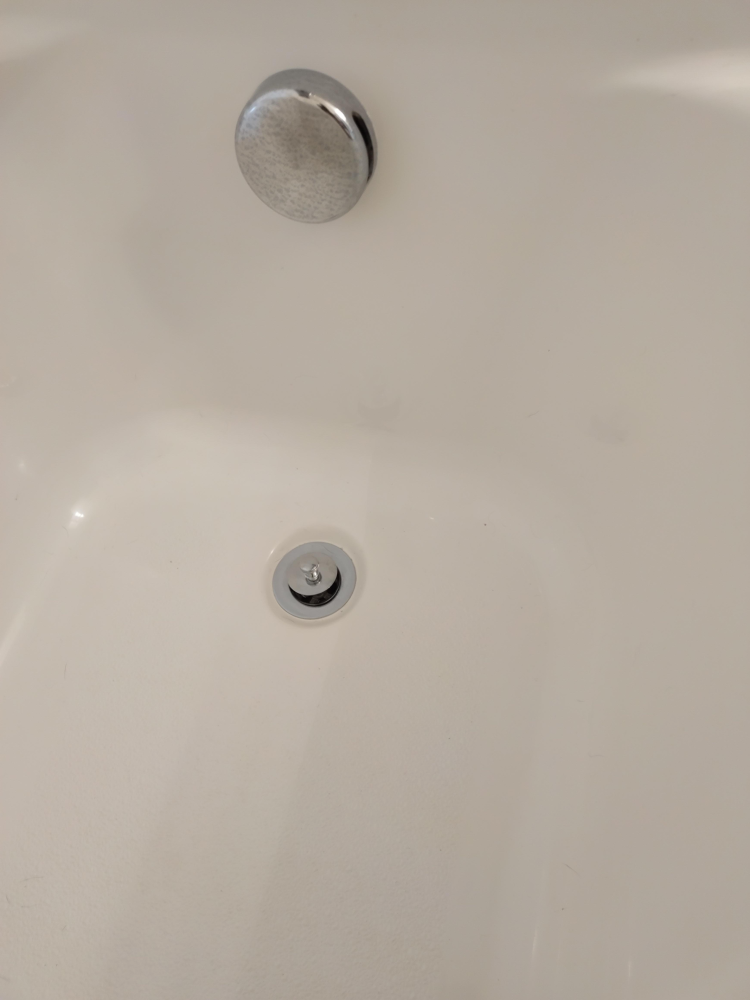 Bathtub Stopper Installed