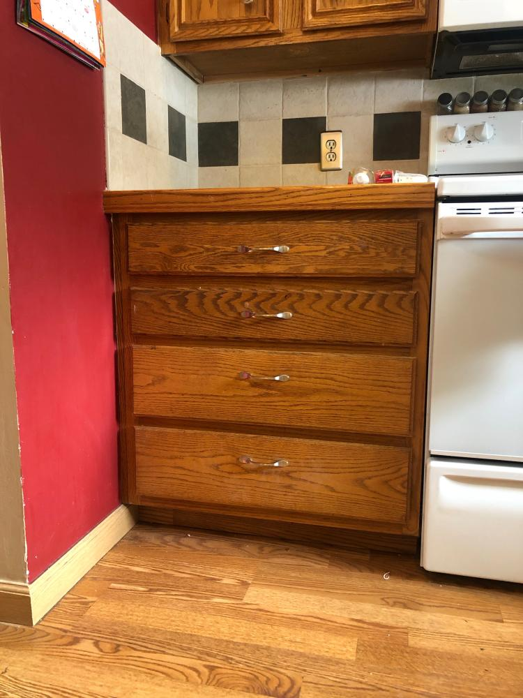 Replaced Drawer Tracks