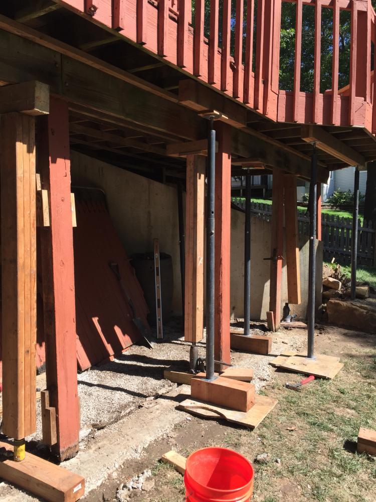 Deck repair, post replacement - before