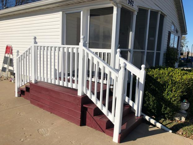 Screen porch and new stairs - after