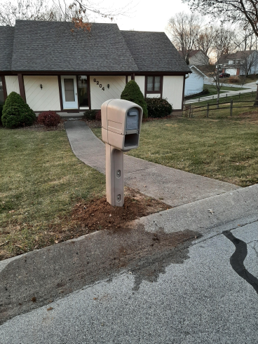 Mailbox replaced - after