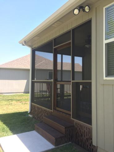 Screen porch and new steps