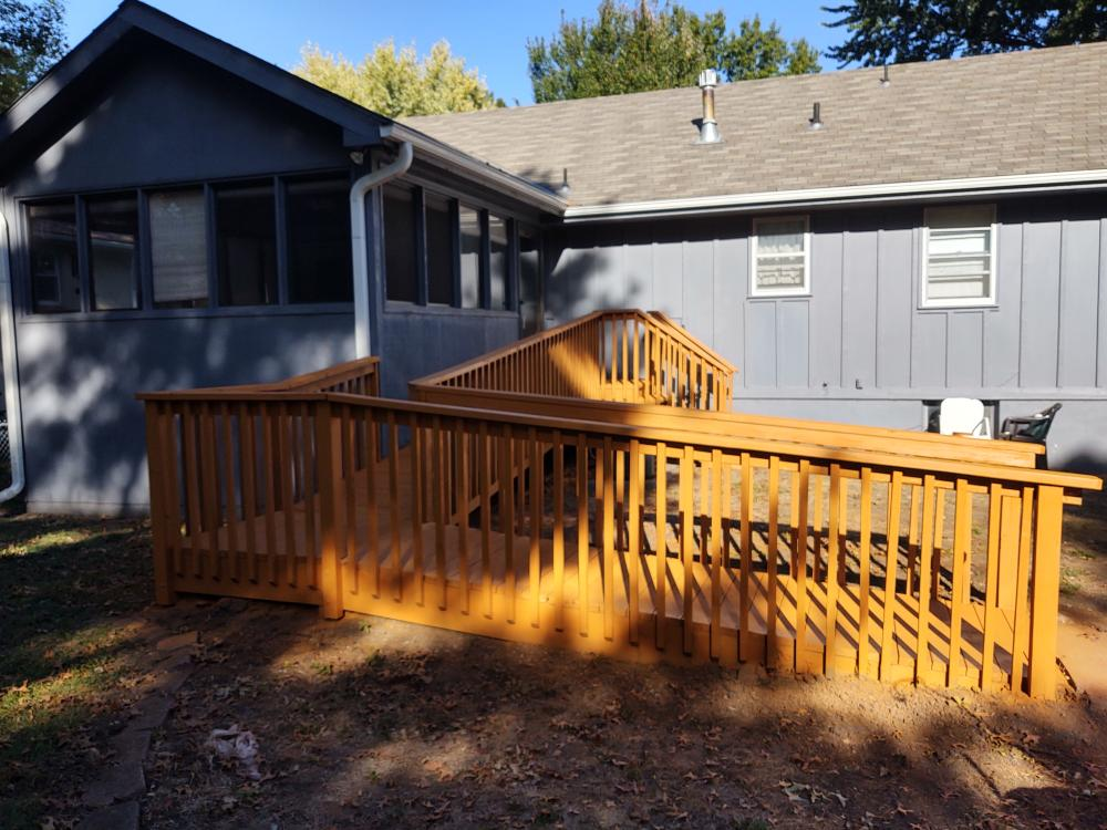 Ramp repairs and stain - after