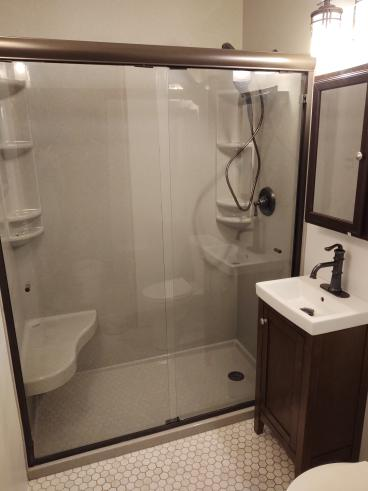 New Onyx shower