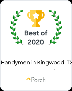 Handyman Matters North Houston Awarded Best Handymen in Kingwood 2020 By Porch
