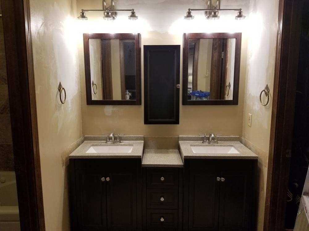 New vanity and lighting