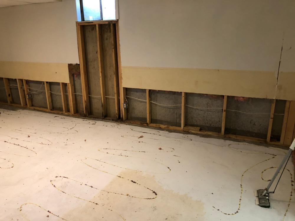 Drywall repair - before