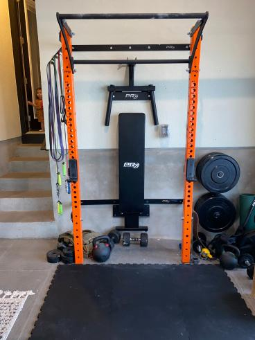 Articulating Home Gym Assembly