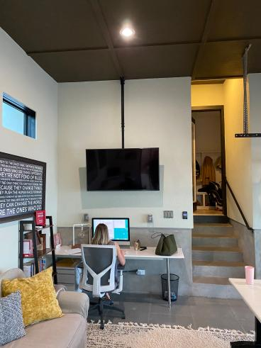 Ceiling Mounted SMART TV