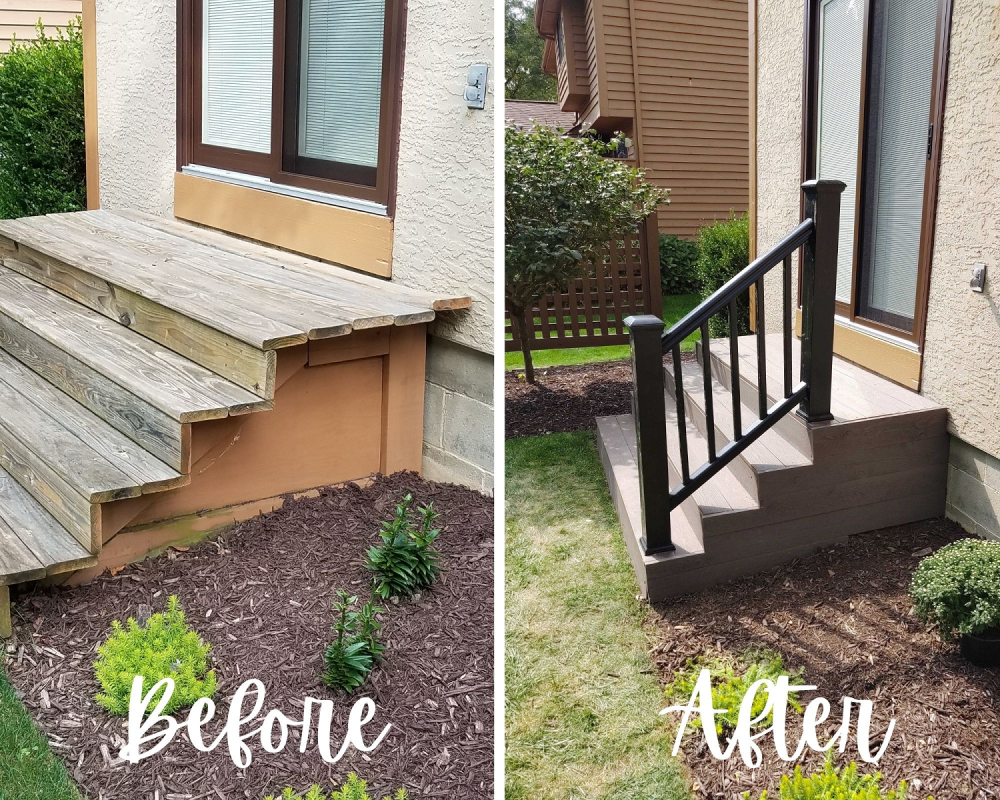Back Stair Remodel in Gahanna