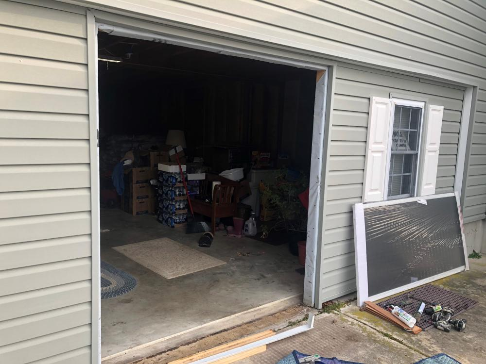 Exterior pre-hung door installed in Ellendale