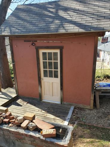 Exterior Door Replacement on Shed in Asheville, NC