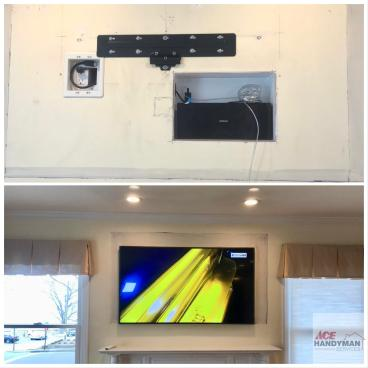 TV Insert Installation