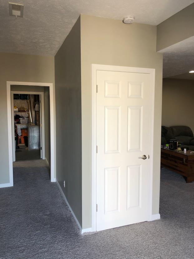 After- Extended Hallway & Installed Door