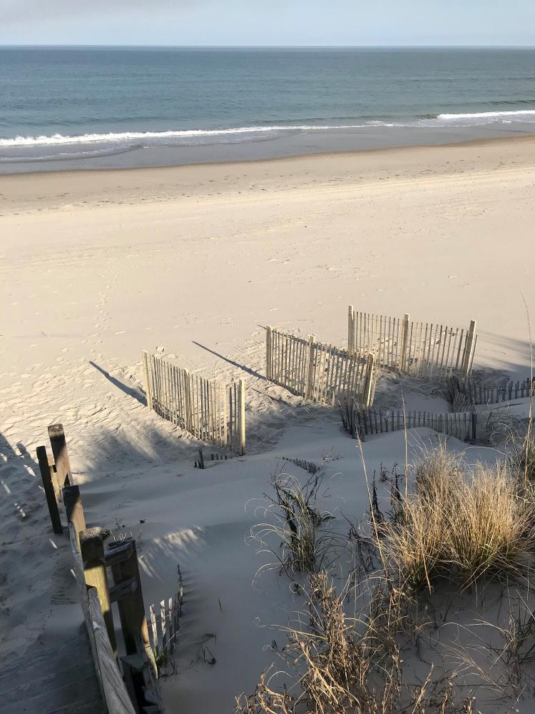 Sand fence install
