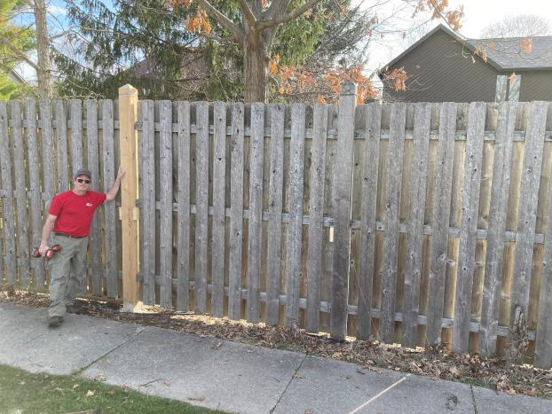 10' Tall Wooden Fence Repair - Carmel, Hamilton County, IN - After
