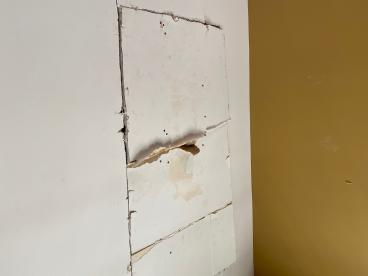 Ceiling Repair - Before